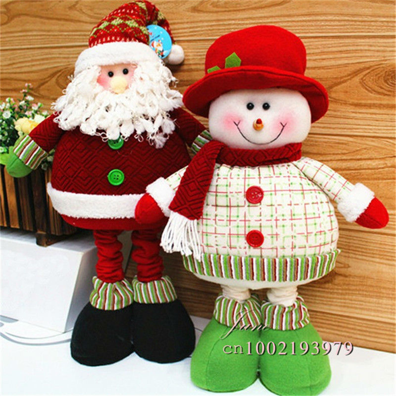 aliexpresscom buy christmas decorations for home adornos navidad 1pcslot stuffed plush toys elongated 70cm long legged santa claus snowman sd48 from