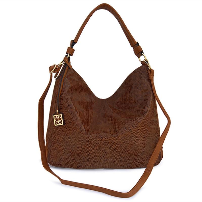 все цены на 2018 Serpentine Leather shoulder Bag Women Handbags Soft Female Bag Crossbody For Women's Shoulder Bags Ladies Casual Tote Hobo онлайн