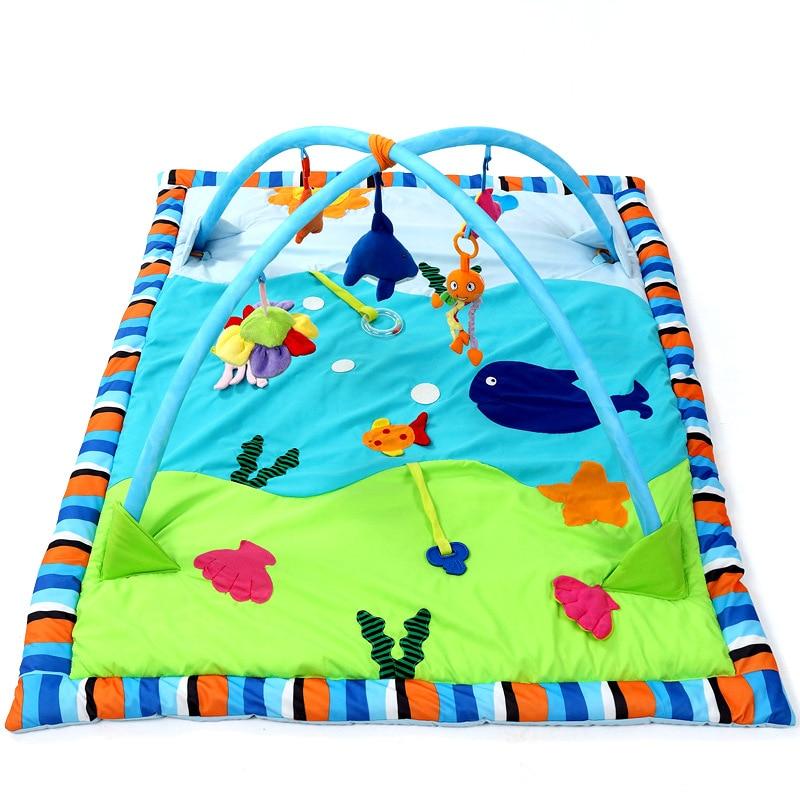 Bébé Gym activité tapis de jeu grand océan coton nourrissons jeu couverture bébé jouer Gym jouer tapis Fitness Bundle jouets activité jeu tapis