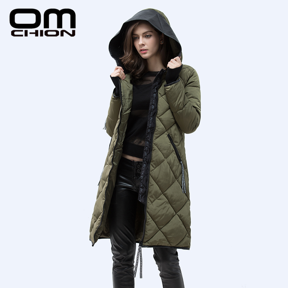 2016 Autumn Winter Jacket Women Slim PU Leather Hooded Thick Down Cotton Padded Coat Casual Warm