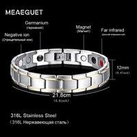 Men Bracelet High Quality Magnetic Charms Bracelets Bangles 21cm Healthy Energy Bracelets For Men