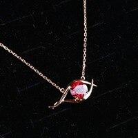 Горячая продажа новый дизайн красный глаз розовое золото P. yrope G. arnet кулон ожерелье высокое качество ювелирные изделия для женщин подарок