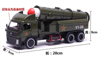 Round Head Intercontinental Ballistic Missile Field Army Back Alloy Model Children S Toy Car Army Military