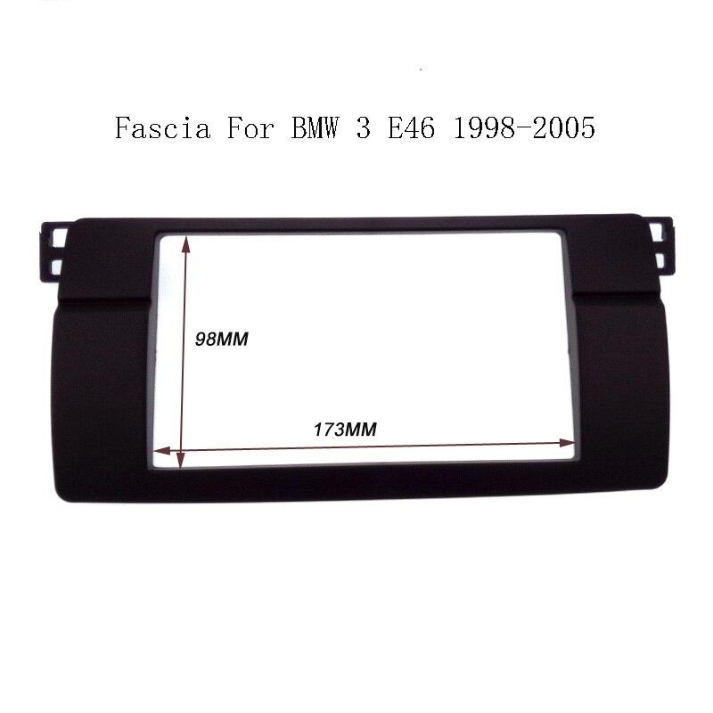 Haute qualité Double 2 Din Fascia Pour BMW Série 3 E46 1998-2005 Radio DVD Dash Panel Stéréo Garniture Kit Surround Cadre plaque