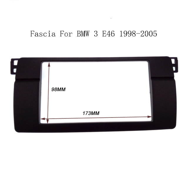 High quality Double 2 Din Fascia For BMW 3 Series E46 1998-2005 Radio DVD Stereo Panel Dash Mount Trim Kit Surround Frame Plate