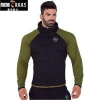 2017 Men Gyms Hoodies Brand Clothing Men Hoody Zipper Casual Sweatshirt Muscle Men S Slim Fit