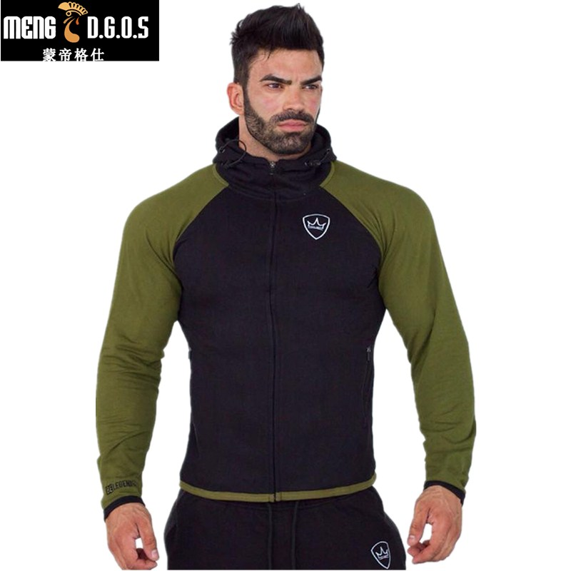 2017 Men gyms Hoodies Brand Clothing Men Hoody Zipper Casual Sweatshirt Muscle Men 39 s Slim Fit Fitness hooded Jackets in Hoodies amp Sweatshirts from Men 39 s Clothing