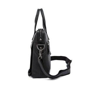 Image 2 - WESTAL Mens Briefcases Office Bag for Men Mens Bags Genuine Leather Briefcase Men Laptop Bag Leather Lawyer/Messenger Bags 910