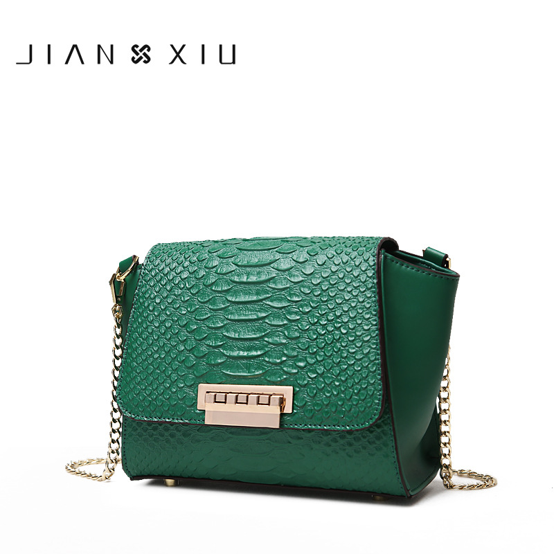 JIANXIU Women Messenger Bags Genuine Leather Bag Bolsa Bolsos Mujer Sac Tassen Bolsas Feminina Shoulder Crossbody Chain bag 2017