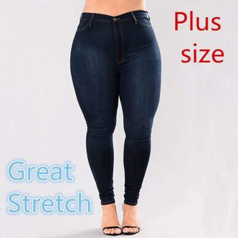 0fa6e0e6340 CANIS Lato Plus Rozmiar Casual Women Jeans Pant Kobiety Stretch Casual Denim  Skinny Spodnie Jegging Wysokiej Talii Plus w CANIS Lato Plus Rozmiar Casual  ...