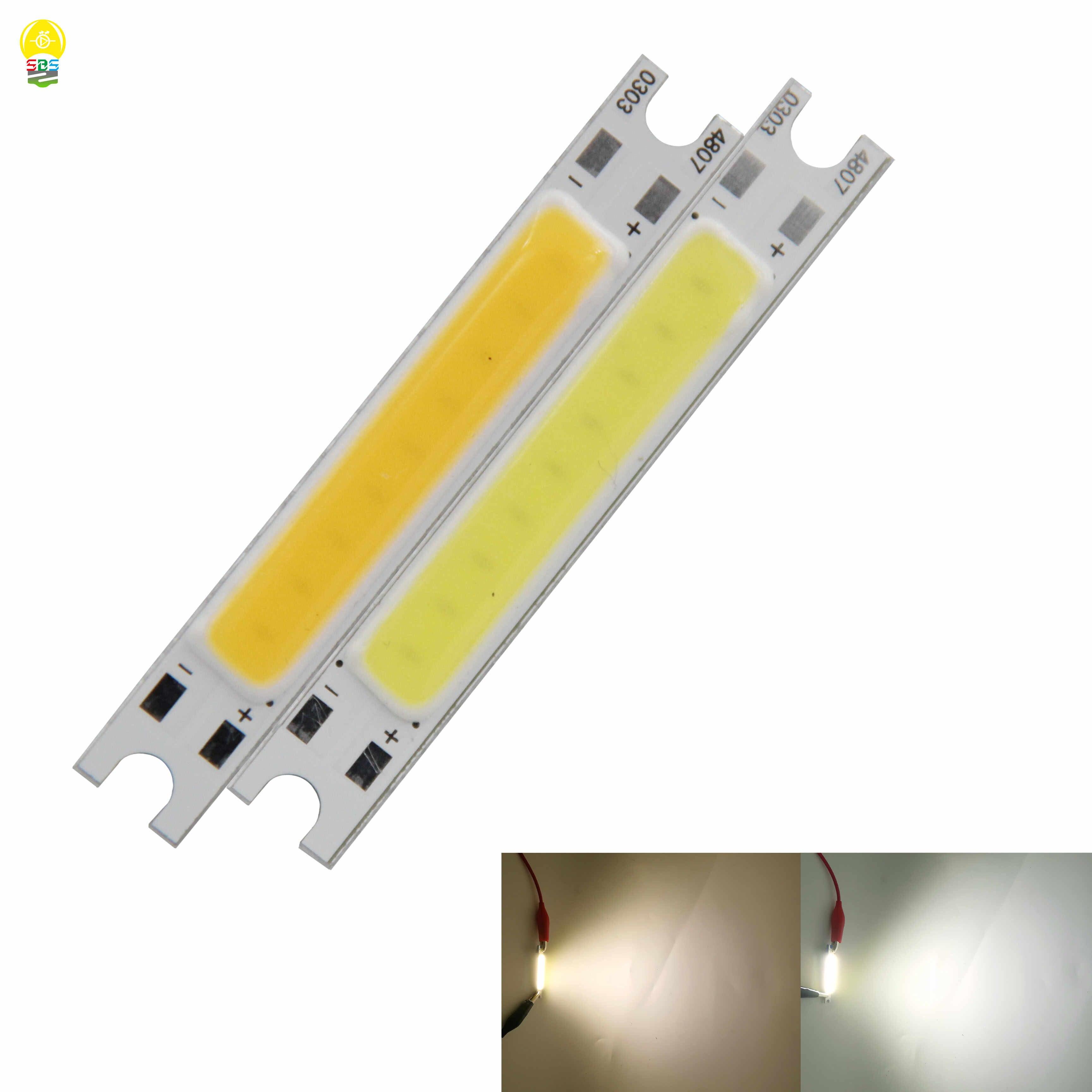 new work wall lamp led light source 48*7mm 3W 9v 300ma cob chip on board led strip for diy light ligtting