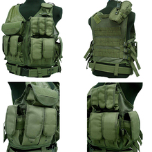 Tactical Police Vest Multi Pockets Outdoor Camouflage Military Body Armor Sports Wear Hunting Army Swat Molle Black