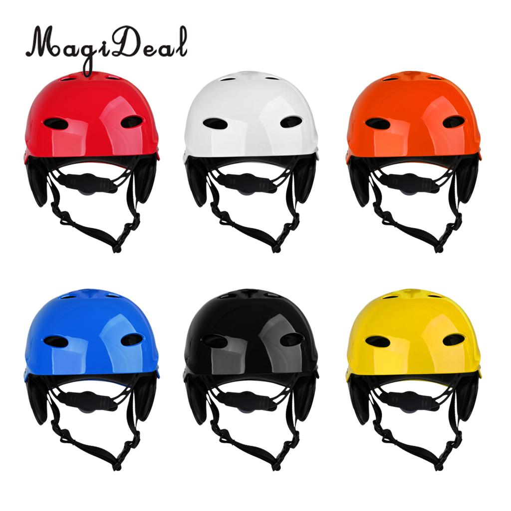 цена на MagiDeal Portable Universal Adult Kids Water Sports Safety Helmet L for Kayak Canoe Sailing Rescue Surf Board Hard Cap 6 Colors