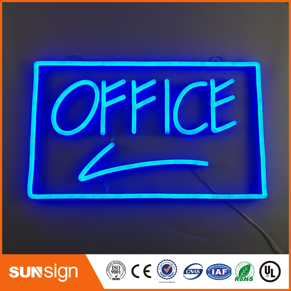 outdoor waterproof hanging letter led neon sign bar open