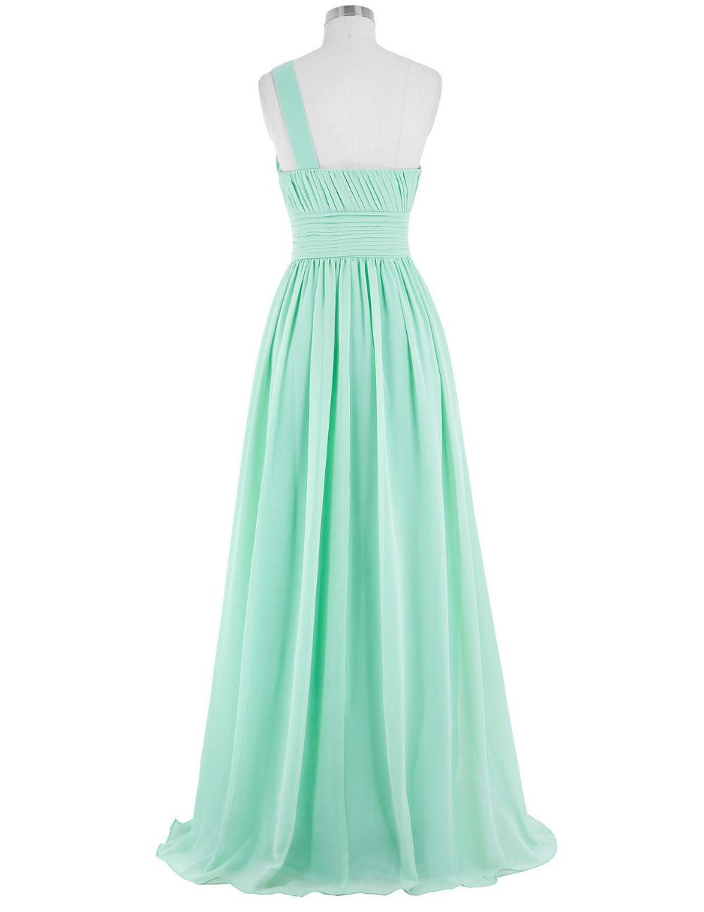 Kate Kasin Mint Green Bridesmaid Dresses Long Wedding Party Dresses One Shouler Bruidsmeisjes Jurk Pink Bridemaid Dress 0200 9