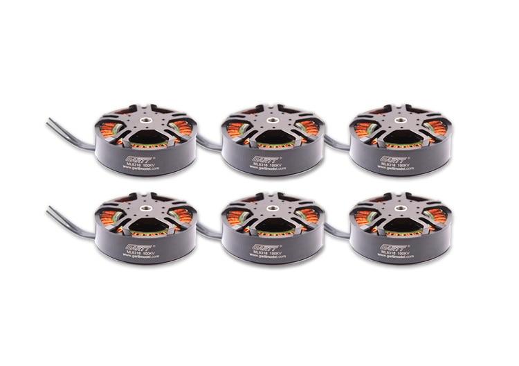 6pcs Gleagle`s ML 8318 100KV Brushless Motor For porps multicopter Drone UAV 3080 4 pcs lot 8318 100kv brushless plant protection motor for 3080 props multicopter drone uav
