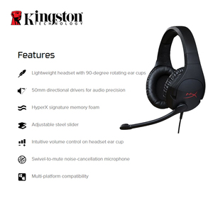 Image 2 - Kingston HyperX Cloud Stinger Auriculares Headphone Steelseries Gaming Headset with Microphone Mic For PC PS4 Xbox Mobile