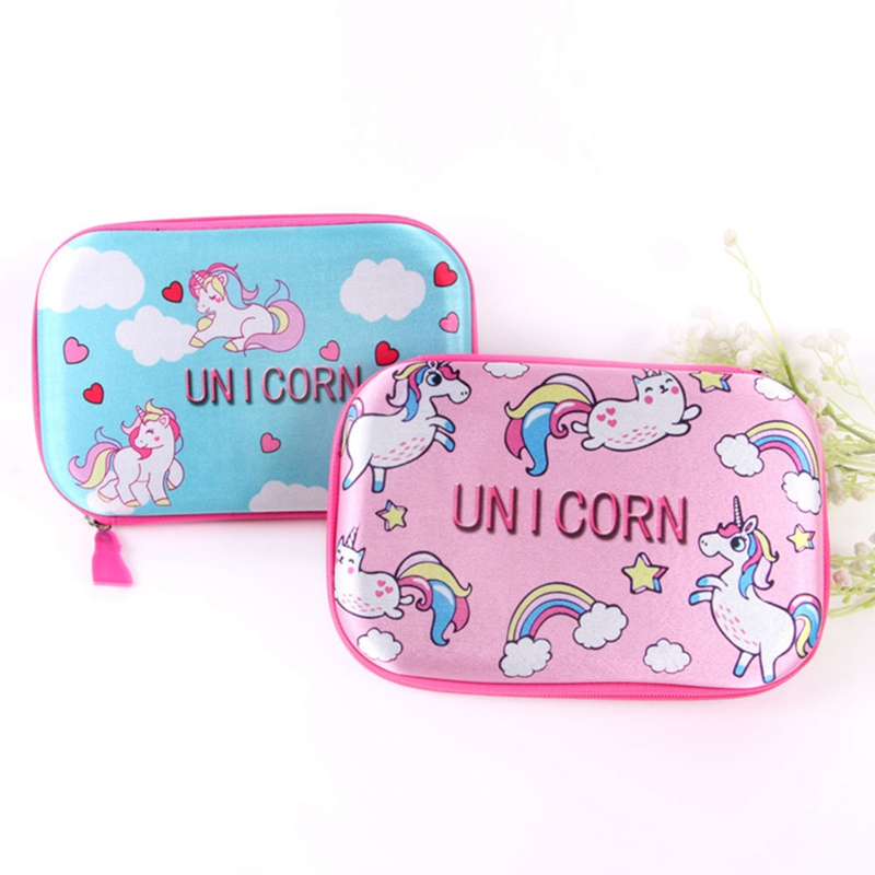 Kawaii Cute Unicorn School Pencil Case EVA Waterproof Pencilcase Large Boys Girls Pen Bag Box Stationery Pouch Supplies