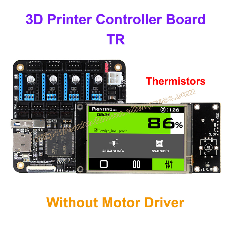 цены 3D Printer Board ARM 32Bit Controller Motherboard for 3D Printer Control Mainboard with 3.5