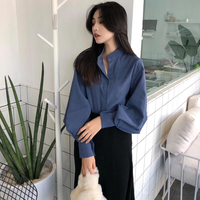 Barato por atacado 2018 novo verão venda quente moda feminina casual senhoras camisas de trabalho l385