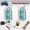 Wasserdicht 2 zwei wege motorrad alarm remote motorstart aus auto  rearm fernbedienung Ortung emgerency entwaffnen led anzeige|Alarmanlage|   -