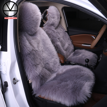 KAWOSEN Long Faux Fur Universal Car Seat Cover Winter Warm Seats Cute Plush