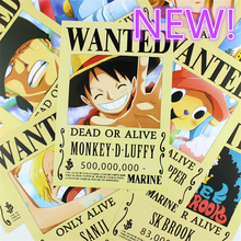 9*(42x29cm)NEW One Piece Wanted luffy poster Anime around poster Wall decoration Wall Sticker