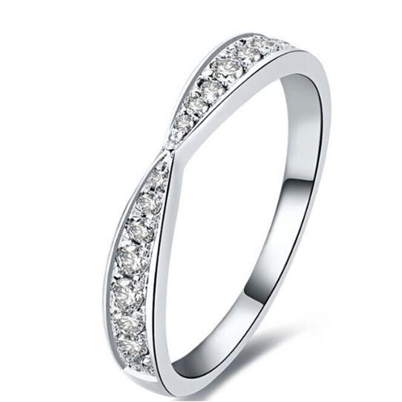Pretty Synthetic Diamant Ring Genuine 925 Sterling Silver