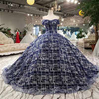 modabelle Off The Shoulder Formal Dresses Womens Luxus Abendkleider Elegant Puffy Blue Ball Gown Evening Dress With Sequins 2018