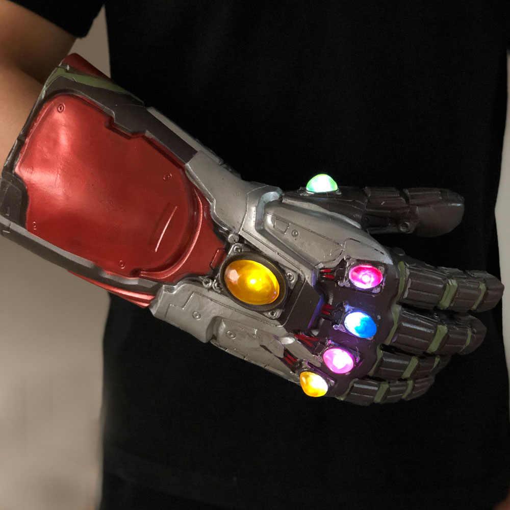Đèn Led Người Sắt Vô Cực Nhẹ Avengers Endgame Cosplay Cánh Tay Thanos Găng Găng Tay Cao Su Tay Siêu Anh Hùng Vũ Khí Đạo Cụ Mới