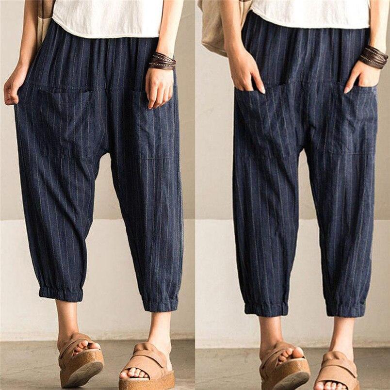 Women's Clothing Lovely Yoyikamomo New 2017 Summer Women Pants Original Cotton And Linen Wide-legged Pants Hot Sale Big Size Loose Women Pants Bottoms
