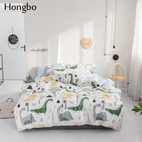 Hongbo Animal Bedding Set Quilt Cover Duvet Cover Set Dinosaur Bed Sheet Comfortable Bedclothes