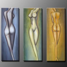Modern art  Hand-Painted Oil Paintings Abstract Nude Women Girl Simple sexy Painting Indoor Wall Art Picture Home decoration