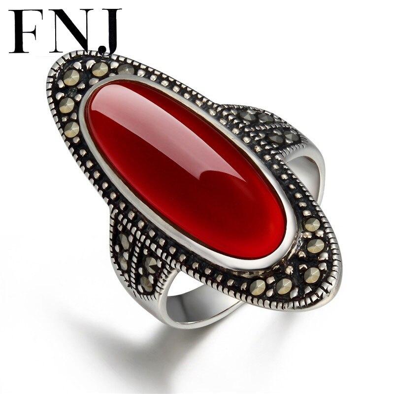 d499ea746c10 Nueva joyería fina S925 plata tailandés sólido lujo piedra roja gran  Declaración anillo puro 925 anillos de plata esterlina para las mujeres  LR05 en Anillos ...