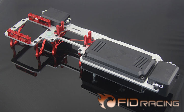 FID dual servo radio tray(red box available) (rc car .toy) FOR LOSI 5IVE-T  Rovan LT km x2 DDT fid rear axle c block for losi 5ive t mini wrc