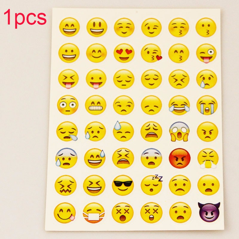 MOONBIFFY стикер 48 классический Emoji усмешки наклейки для ноутбуков альбомы сообщение Twitter Большой Viny Instagram Классические игрушки