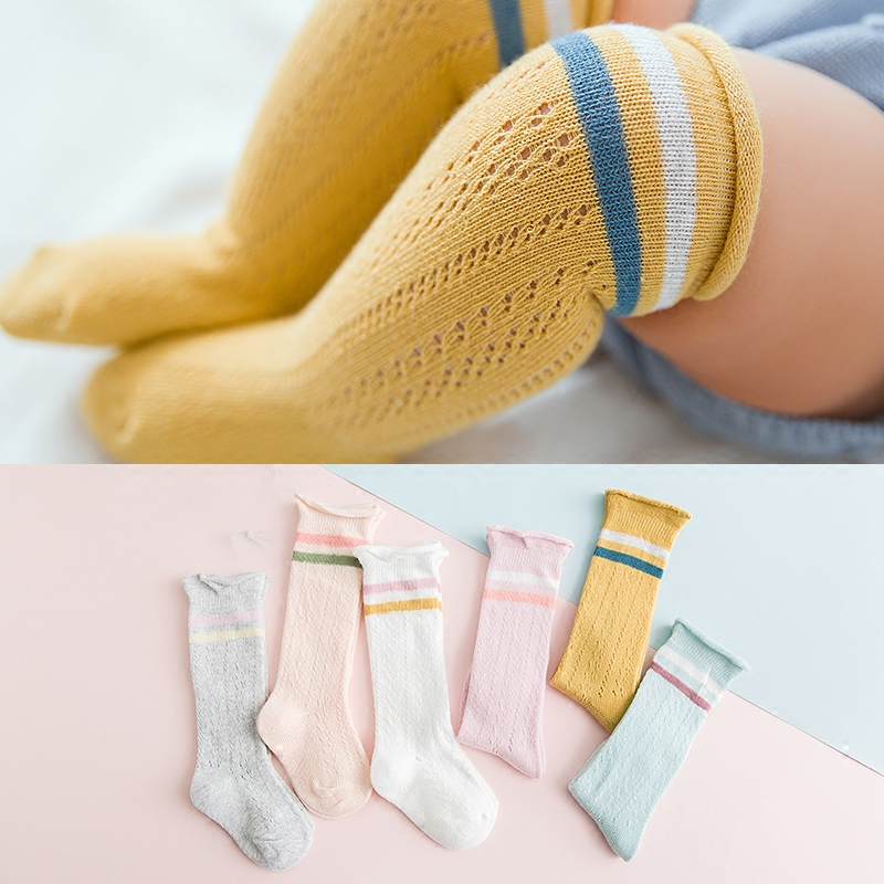 Spring and Summer New Childrens Socks Pure Cotton Baby Mosquito-proof Kids Baby Casual Breathable Girl Boy Unisex Neutral Socks