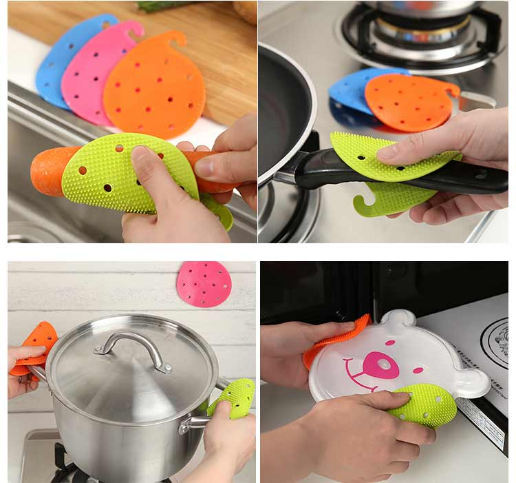 Heat Cleaning Brush To Clean Potato Foam Insulation Clean Kitchen Gadgets Multifunction Pin clean Fruits Vegetables