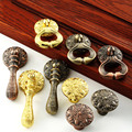 Classical Pendant Drawer Knobs and Pulls,Kitchen Cupboard Wardrobe Furniture Door Single hole small Handles and Knobs Red Bronze