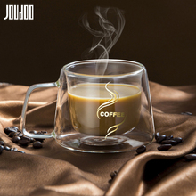JOUDOO 200ml Double Layers Coffee Glass High Borosilicate Cup Office Home Table Mug Heat resistant Milk Drinkware35