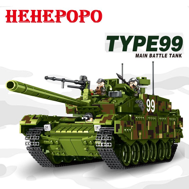 Tank World  Military War Weapon Type 99 Tank Block 1339pcs Bricks Building Blocks Sets Models Educational Toys For Children DIY war princess castle military weapon