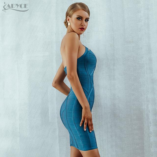 One Shoulder S Bodycon Bandage Dress Vestidos