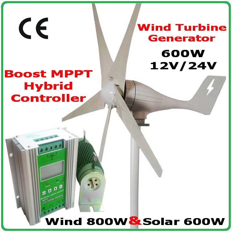 600W Wind Turbine Generator Power System MAX 830W Hybrid 1000w Wind Solar Controller Wind 600W Solar