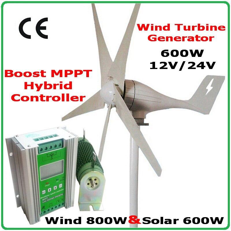 600 W gerador do vento MAX 830 W turbina eólica + 1400 W MPPT híbrido controlador de carga para 800 W do vento gerador de turbina eólica + 600 W painéis solares