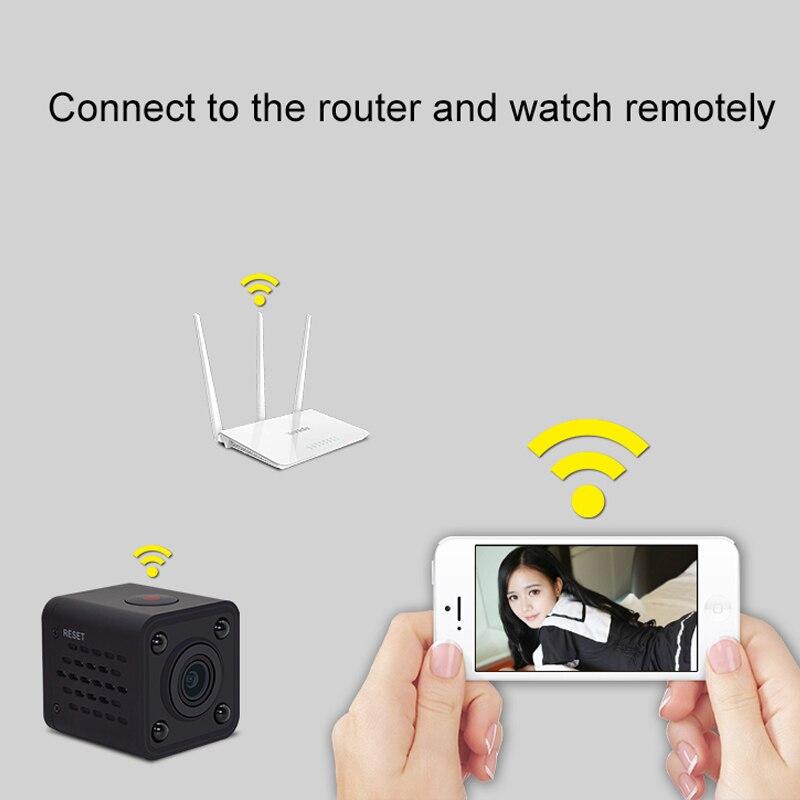 2018 Новый 1080 P 150 градусов широкий угол Беспроводной WI FI веб камера Встроенный WI FI батареи Поддержка ночного видения карты памяти для IOS android