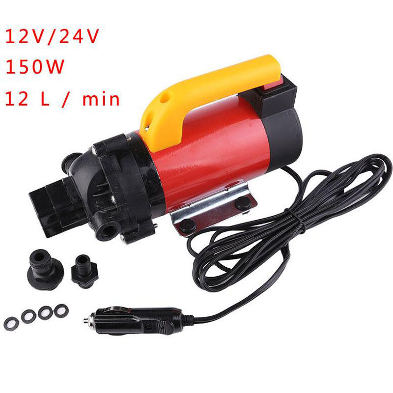 High Pressure DC 12V/24V 120W Diaphragm Pump Portable Car Washer Pump With Pressure Switch Self Priming Sprayer Pump free shipping high pressure self priming electric car wash washer water pump 12v car washer washing machine cigarette lighter