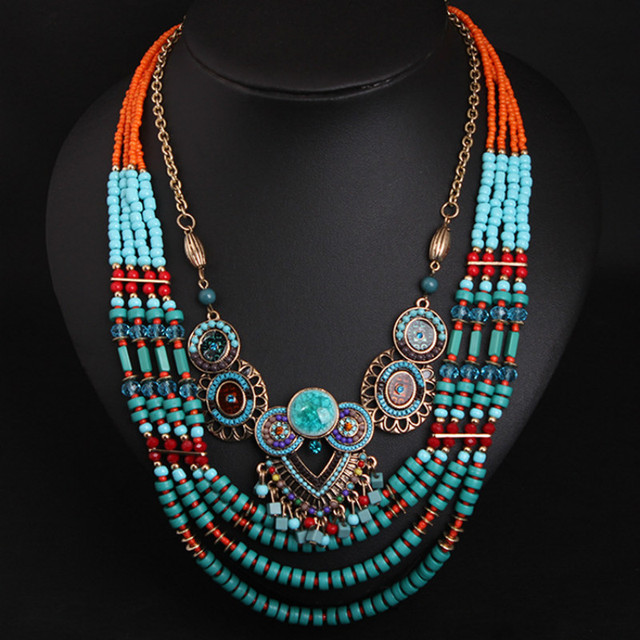 Bohemian Boho Gypsy Handmade Long Beaded Necklace. Cute | Etsy