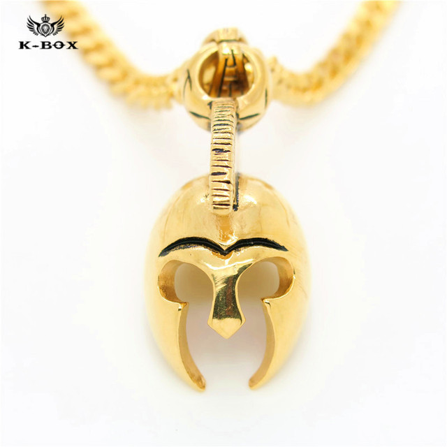 Hot stainless steel roman empire ancient greek spartan warrior hot stainless steel roman empire ancient greek spartan warrior helmet mens pendant necklace movie jewelry gift audiocablefo