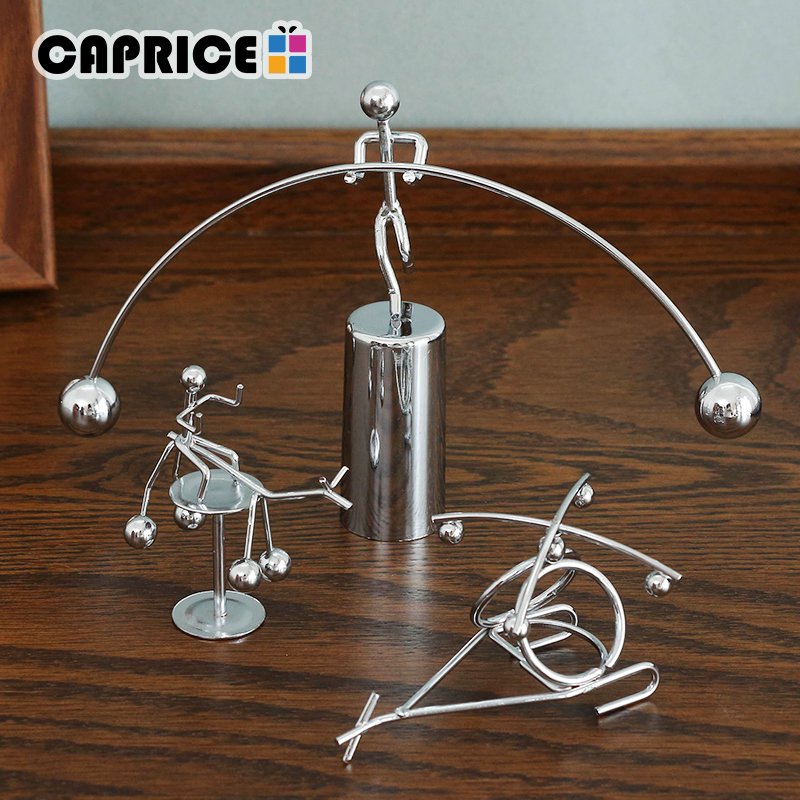 Newton Pendulum Cradle New Balance Men Iron Man Ball Crafts Tumbler Desk Toy Metal Decor Home Decoration Accessories XTY-D