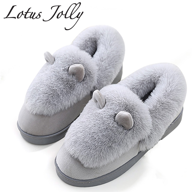 Winter Women Indoor Home Cotton Boots Lovely Rabbit Ears Super Warm Home Furnishing Boots Woman High Top Non-slip Floor Shoes jianbudan 2017 new winter high quality cotton shoes men and women indoor warm slippers non slip mute home cotton drag